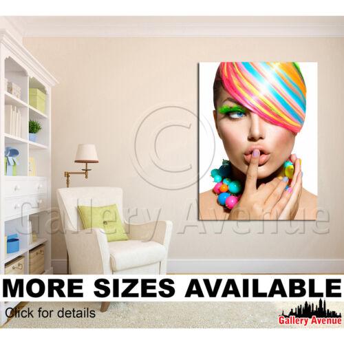 Beauty Make-up Salon Lips 0087 Nails 3.4 A Wall Art Canvas Picture Print