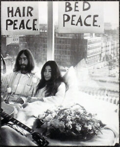 The Beatles Poster Page 1969 John Lennon Yoko Ono Amsterdam Hilton Bed In D35 Ebay