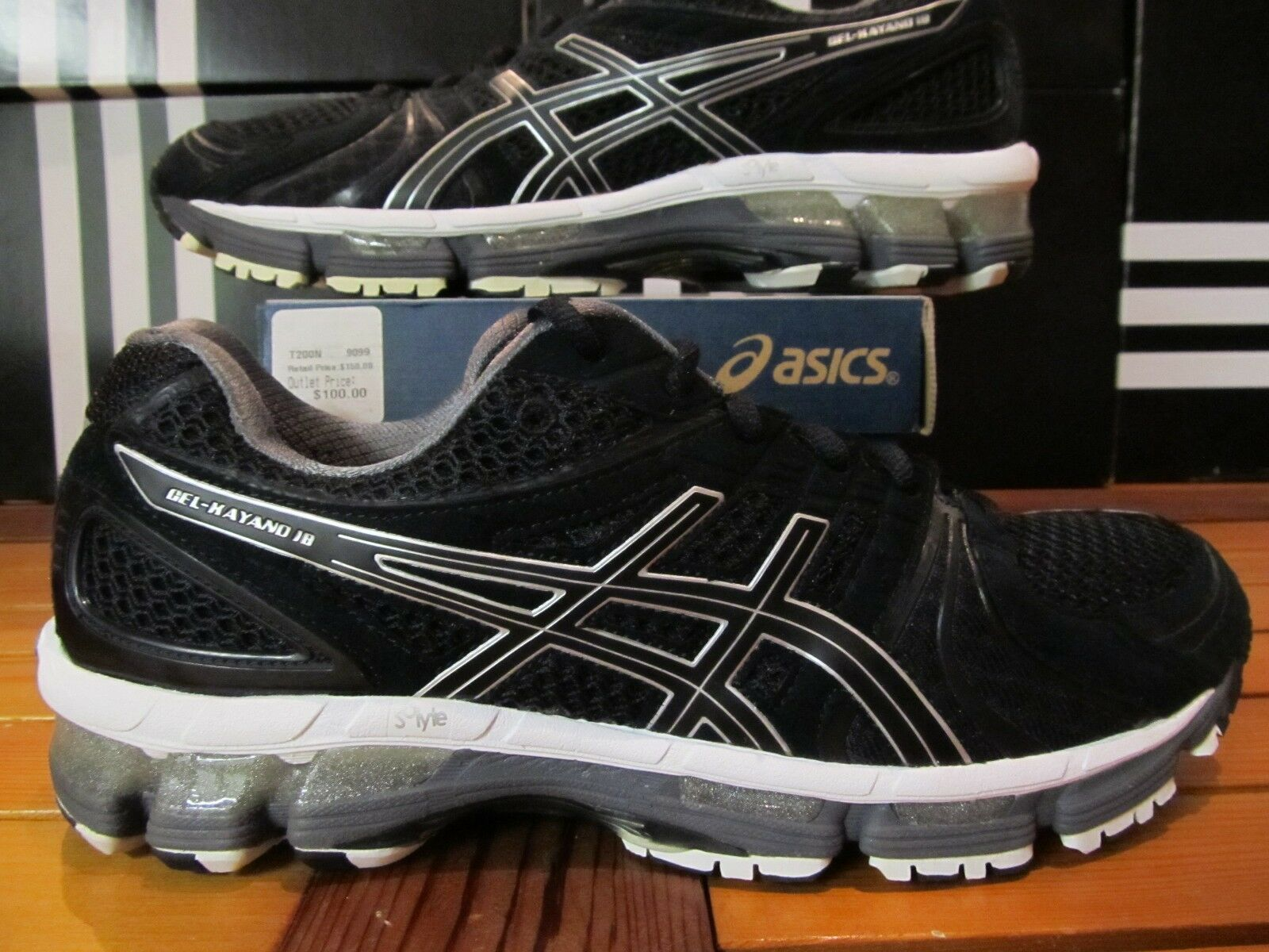 NEW Asics Gel Kayano 18 150 Black Onyx White T200N 9099 Running Shoes 20 23 24