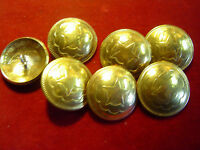 "Buttons: 7 Brass 1""  Horseshoe & Star w/ nickle stem loop"
