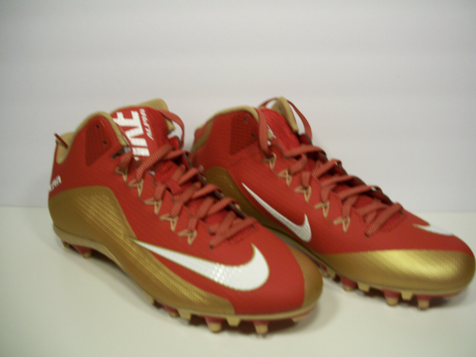 NIKE Mens Alpha Pro 2 3 4 TD Football Cleats Red gold 729444-628 13