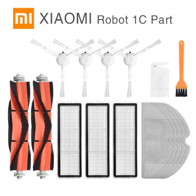 For Xiaomi Mijia 1C Sweeping Robot Vacuum Main Brush Side Brush Filter Mop Kit #