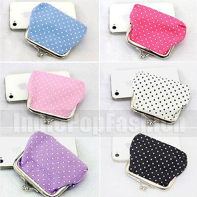 2015 Buckle Design Cute Little Polka Dots Mini Purse Clutch Purse UK2 DS