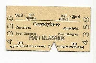 BR ticket, Cartsdyke to Port Glasgow, 1970