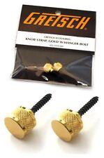 GRETSCH® (2) GOLD GUITAR STRAP BUTTONS KNOBS 922-1029-000 *NEW*