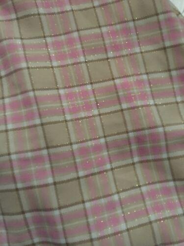 Sweet Heart Rose Girls Plaid Coat /& Dress Set Size 18 24 Months Pink Ivory Fur