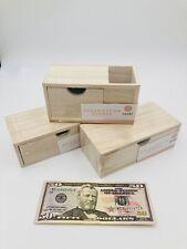 Set Of 3 Pencil And Pen Holder Office Desk Supplies Organizer Desktop Wooden