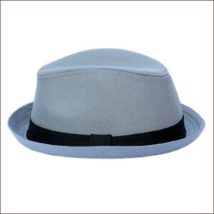 8033373f5 Details about Boys Hat Born To Love Clothing Grey Trilby Fedora Hat
