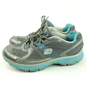 Size 8.5 Gray Blue Sneakers Shoes