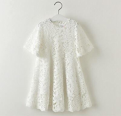 Vestito Bambina Estate Pizzo Fiori - Girl Summer Lace Dress Flowers DG0013