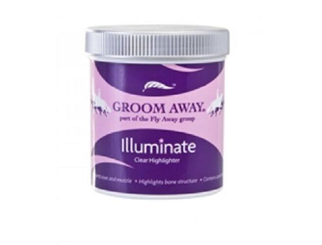 Groom Away Illuminate 260g Clear  Facial Highlighter for Horses Faces and Eyes  promotional items