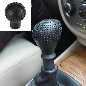 Soft-Bump-Silicone-Nonslip-Car-Shift-Knob-Gear-Stick-Cover-Protector-Kit-Black