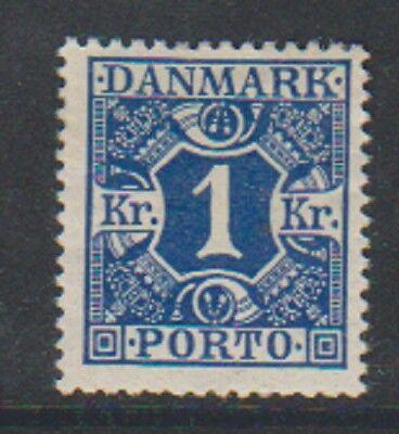 1k Dunkelblau Versand Due Briefmarke Dänemark 1921 Sg D234 Halten Sie Die Ganze Zeit Fit M/m