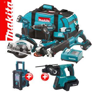 Makita-LXT-18V-Akku-Werkzeug-SET-DMR107-BHR261-36V-Kombihammer-BVC02-Adapter