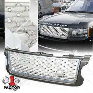 For-2010-2013-Range-Rover-lt-AUTOBIOGRAPHY-STYLE-gt-Grey-Chrome-Silver-Grille-Grill