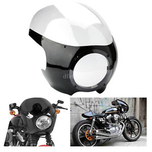 Moto-Clear-Cafe-Racer-5-3-4-034-phare-Carenage-Pare-Brise-Pour-Harley-Sportster-Dyna