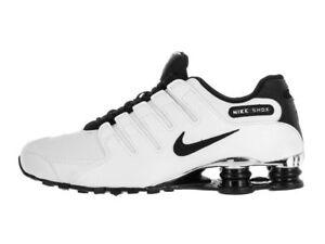 c8b6b04af5b5 Nike Shox NZ Premium Men s Size 10 White Black Wolf Grey Chrome 536184 100