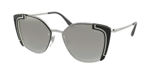 5a7214b1e38 BRAND NEW PRADA SPR59V PR 59VS 59V SUNGLASSES. 4315O0 SILVER BLACK ...