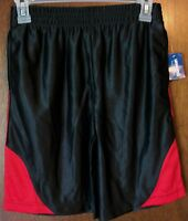 Boys Shorts Sz 8 Highland Outfitters Dazzle Black & Red 100% Polyester
