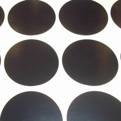 60 Black 38mm 1.5 Inch Colour Code Dots Round Stickers Sticky ID Labels