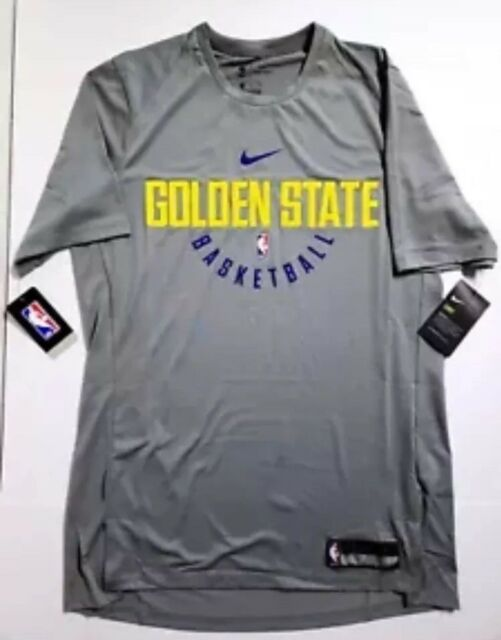 Nike Men s Dry Golden State Warriors Practice Jersey Shirt 877532 039 Size  4XL 00429687d