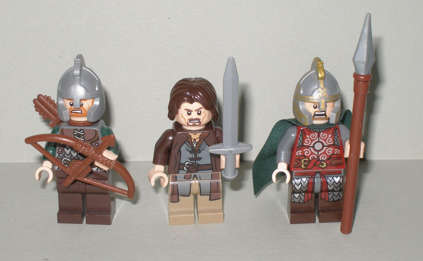 LEGO LO HOBBIT/Signore degli anelli Aragon, Eomer e Rohan soldato mai con accessori