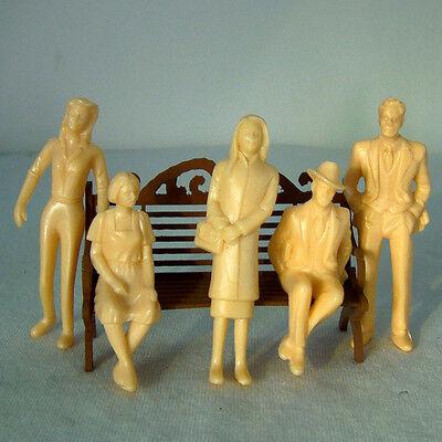 20pcs G Scale 1:30 Unpainted Model Train People Figures (1:30) Toy