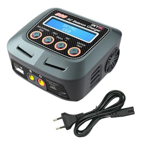 skyrc s60 60w 6a ac balance ladegerät entlader für lipo batterieladegerät
