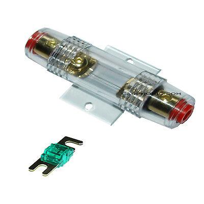 Batterie Battery Fuseholder AGU Kabel Haupt Strom Sicherung 30AMP 80AMP gold