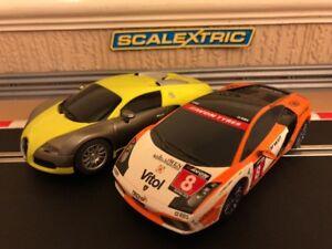 Scalextric Lamborghini Gallardo Bugatti Veyron Fully Serviced