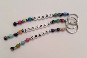 Daddy Brother Uncle Grandad - Personalised Keyring - Ideal Gift In Organza Bag