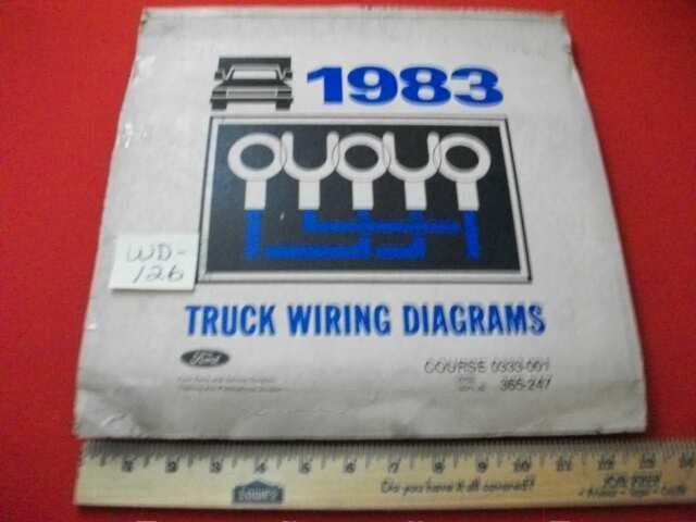 Vintage 1983 Ford  U0026quot Light To Heavy Duty U0026quot  Trucks Electrical