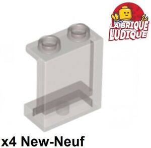4x Panel Panneau 1x2x2 Side Supports Hollow Studs noir//black 87552 NEUF Lego