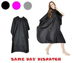 NEW-Unisex-Adults-Black-Hair-Salon-Hairdressing-Barbers-Gown-Cutting-Cape-Cover