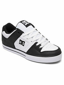 708e9323e3577 DC SHOES MENS TRAINERS.NEW BOX PURE LEATHER BLACK WHITE SKATE SHOES ...