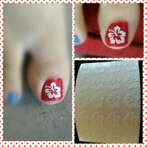 Image Is Loading Hibiscus Flower Nail Art Decal Vinyl PEDICURE Stickers