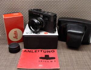 """Leitz Wetzlar - Leica M5 schwarz Summicron-M 1:2/35mm """"Prime Kit"""" - TOP!"""
