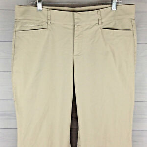 1061fa1e4c8 DOCKERS Elastic Waist Womens Size 14M STRETCH Beige Wide Leg Chino ...