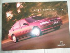 Honda Civic 5 Door range brochure c1995 Irish market
