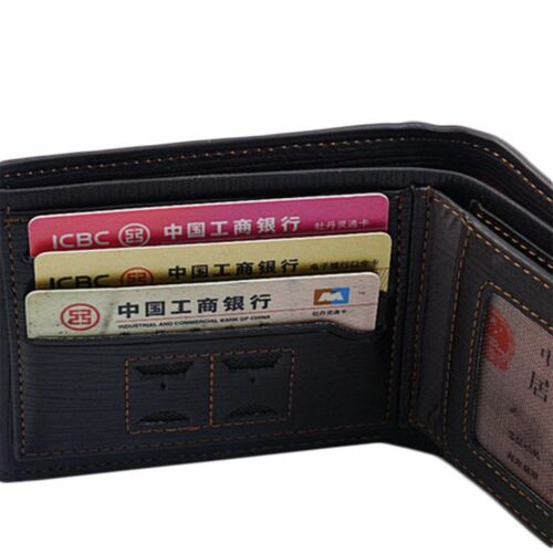 Men/'s Genuine Leather Credit Card Holder Wallet Bifold ID Cash Coin Purse Clutch
