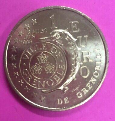 1 Euro Temporaire Des Villes De Grenoble 1998 Druppel Droog