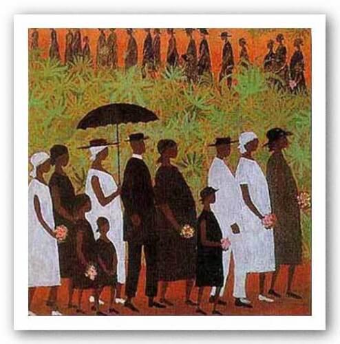 Funeral Procession Ellis Wilson African American Art Print 5x6