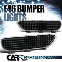 Bmw 1999-2006 E46 3-series/m3 Coupe Black Bumper Reflector Lights on sale