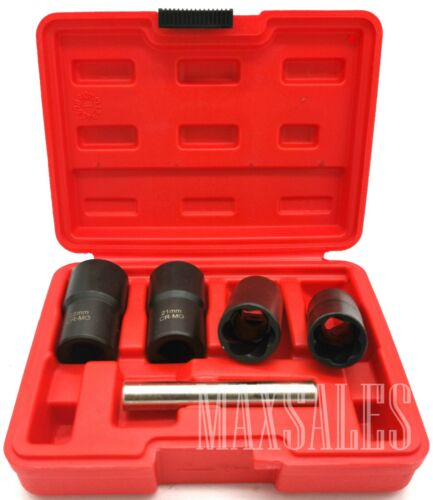 "5pc 1//2/"" Dr Twist Socket Set 4 Damaged Worn Lug Nut /& Lock Remover 17,19,21,22mm"