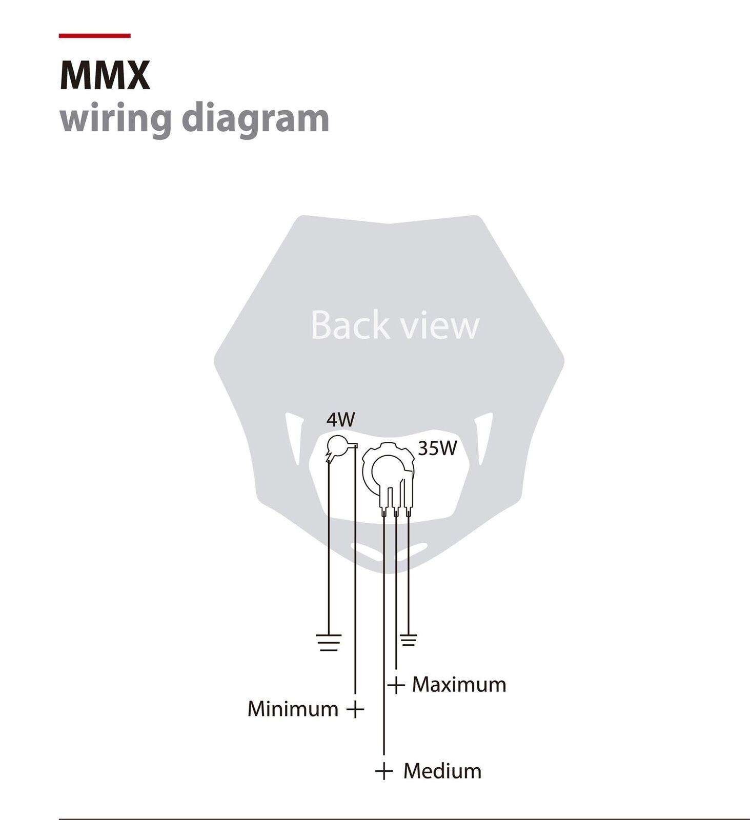 Polisport Headlight Wiring Diagram Free For You Derbi Senda 125 50 Mmx Lamp Mask Ebay Rh Co Uk Basic Turn Signal