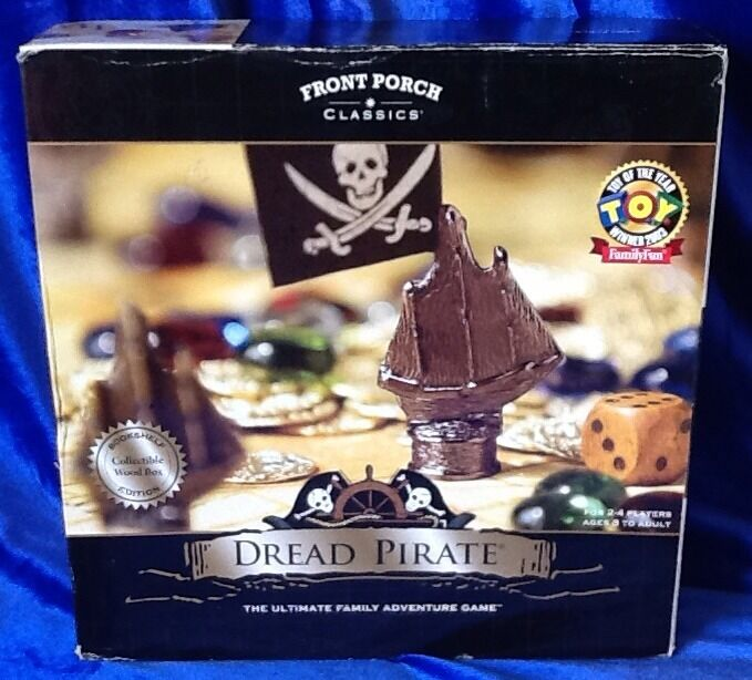 Dread Pirate Family Adventure Game Collectible Wood Box Bookshelf Edition
