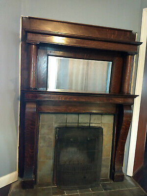 Antique Victorian Wood Fireplace Mantel, Antique Victorian Fireplace Surround