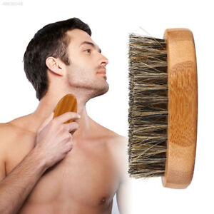 5D9D Beard Brush Mustache Men Hair Care Grooming Boar Bristles Comb Face Gift