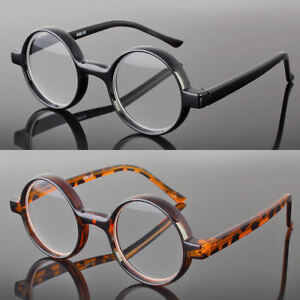 0ac2c91c03f8 Image is loading New-Black-Tortoise-Round-Oval-Reading-Glasses-Readers-