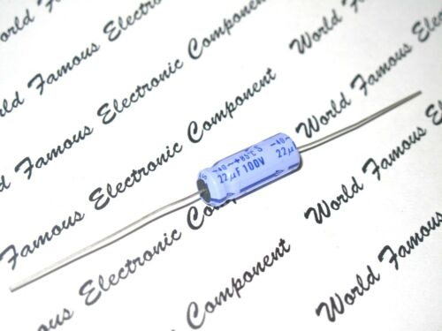 100V Axial Hi-Fi Audio Electrolytic Capacitor CE 22µF 10pcs-MATSUSHITA 22uF